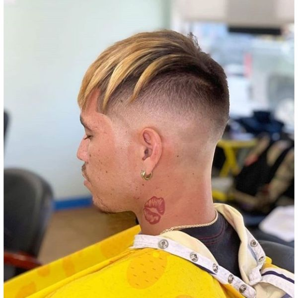 French Crop Mid Skin Fade for Blonde Chunky Hairstyles