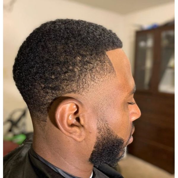 Fresh Low Taper Fade for Curly Hair