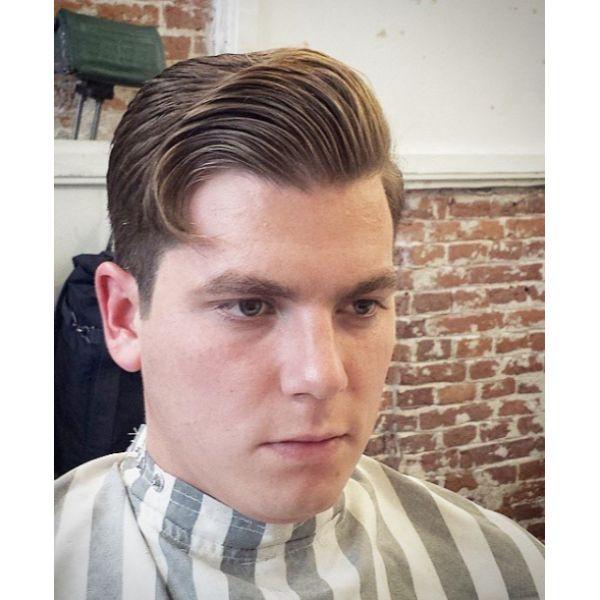 Gentleman Cut Short Sides Long Top Hairstyles