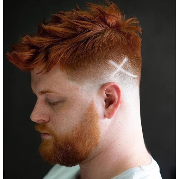 Ginger Spiky Piecey Faux Hawk Short Sides Long Top Hairstyles