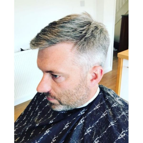Grey Layered Taper Cut