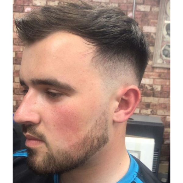 High Fade with Front Forward long Top