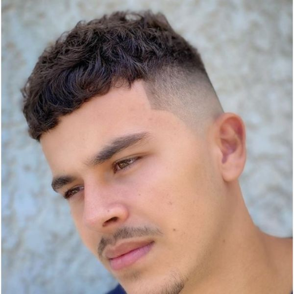 High Fade with Short Fringe and Messy Long Top