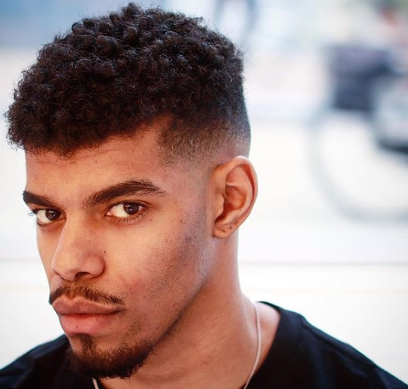 High Taper Fade for Curly Hair