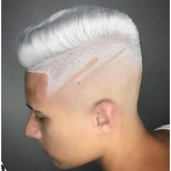 Ice Blonde Jelly Rolls Skin Fade Short Sides Long Top Hairstyles