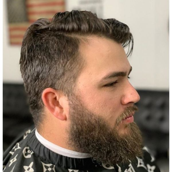 Long Combover Hairstyle for Balding Men
