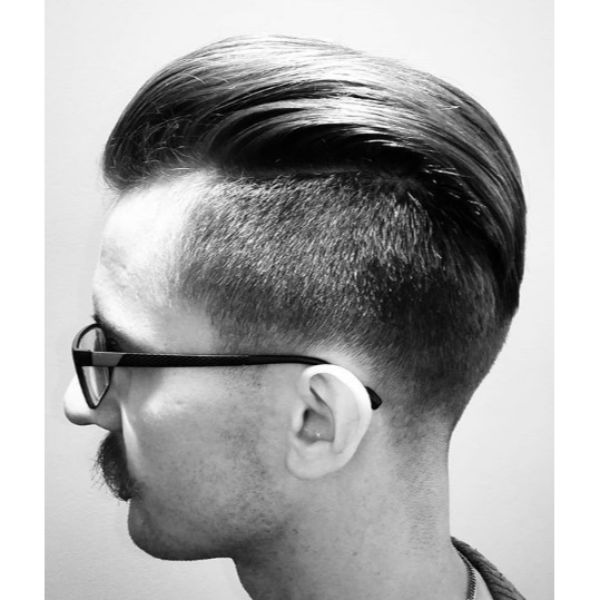 Long Slicked Back with Side Sharp Fade