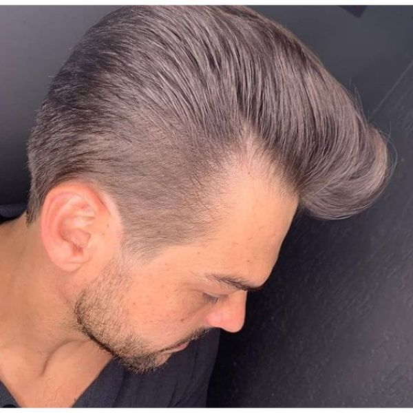 Long Taper Fade with Pompadour Top