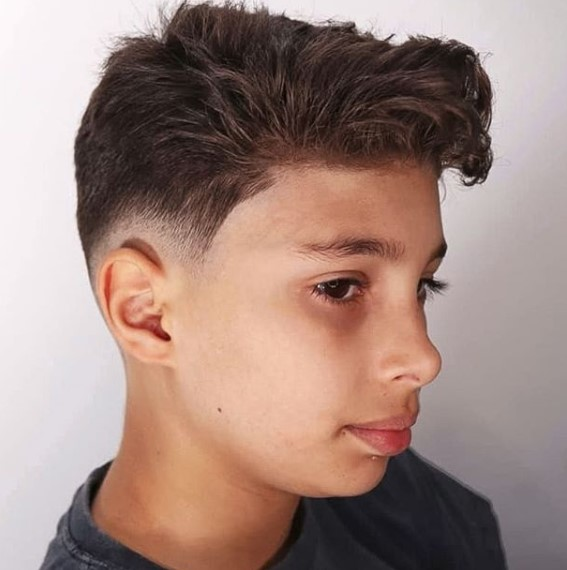 Low Fade with Long Top and Side Part