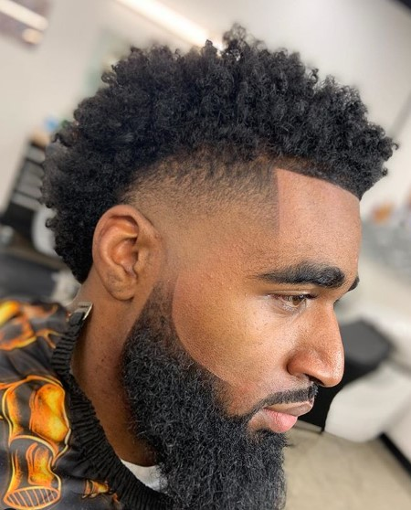 Low Taper Fade for Curly Kinky Hair