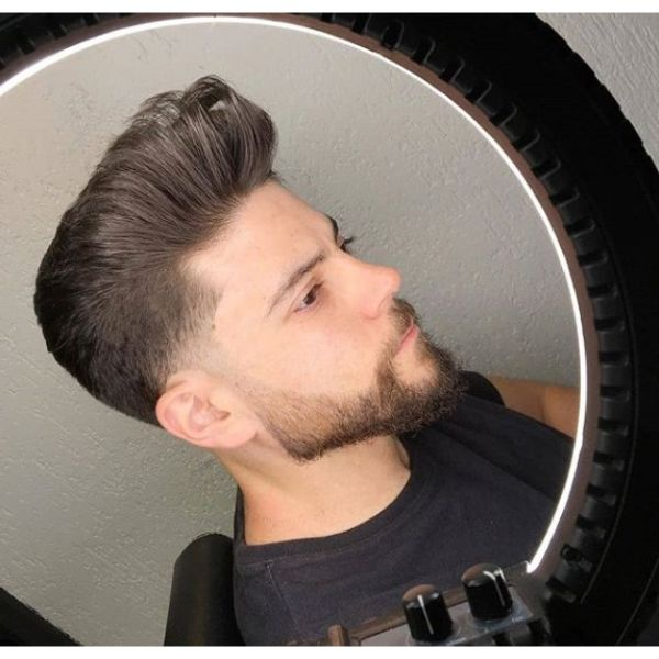Low Taper Fade with Johnny Bravo Styling