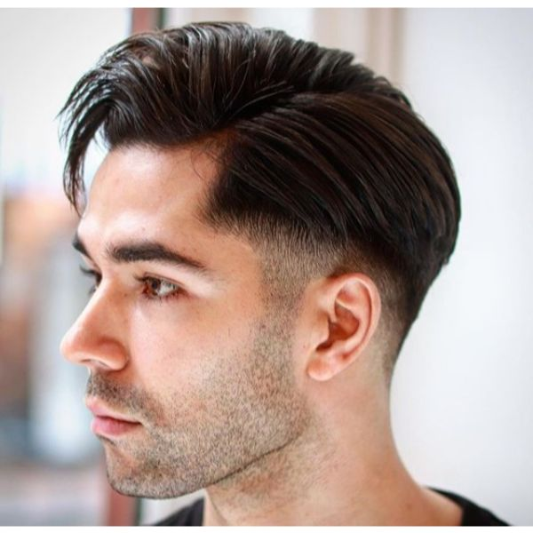 Low Taper Fade with Side Part