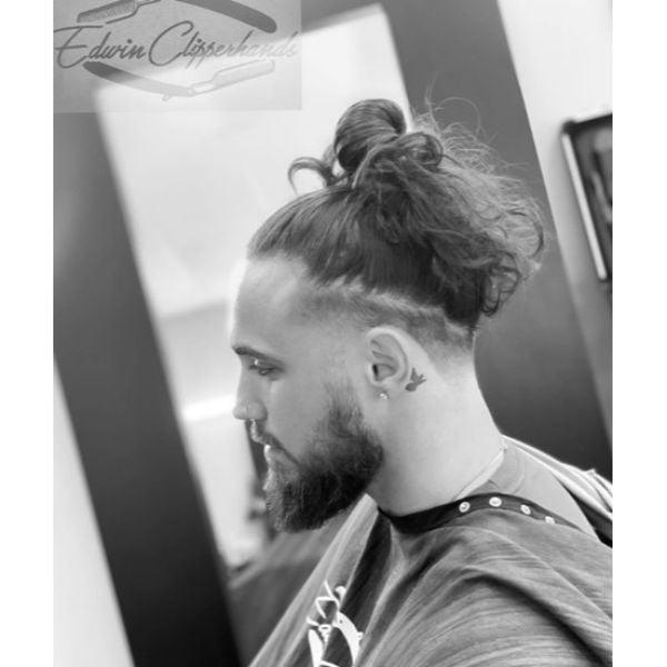 Man Bun Short on Sides Long On Top Hairstyles