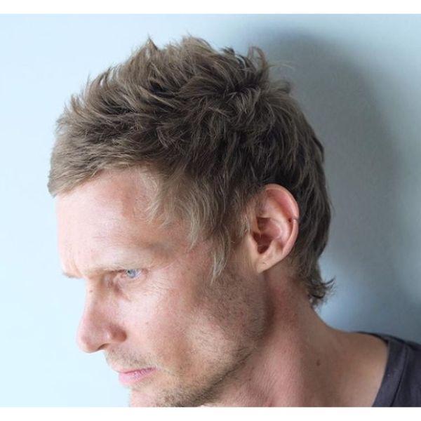 Messy Scissors Taper Fade Haircut