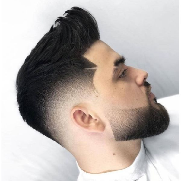 Mid Fade Quiffed Short Sides Long Top Hairstyles