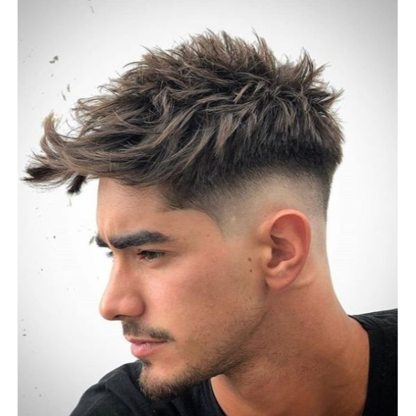 Mid Fade with Layered Spiky Top
