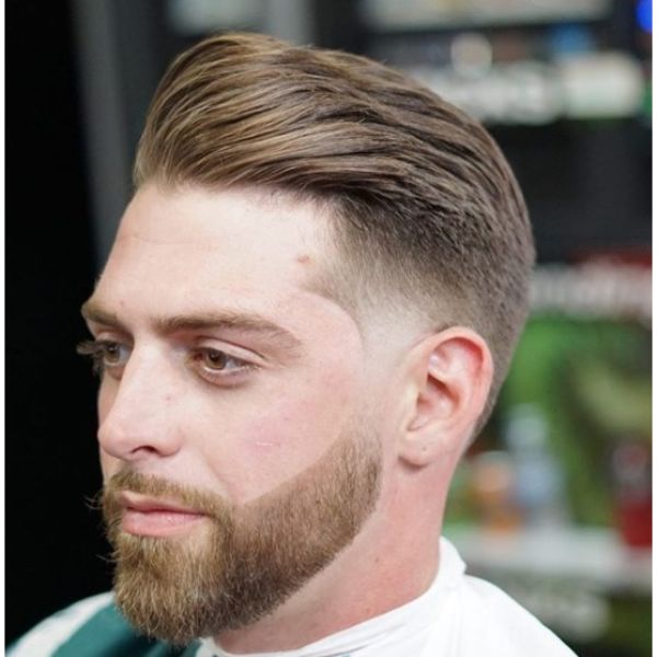 Mid Taper Fade with Combover