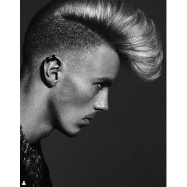 Mohawk Short Sides Long Top Hairstyle
