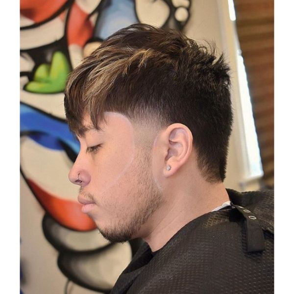 Mohawk Taper Short Sides Long Top Hairstyles