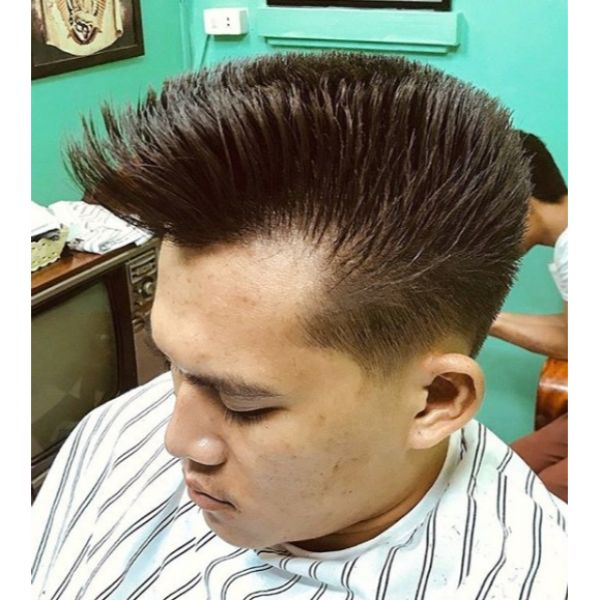 Old School Quiff Short Sides Long Top Hairstyles