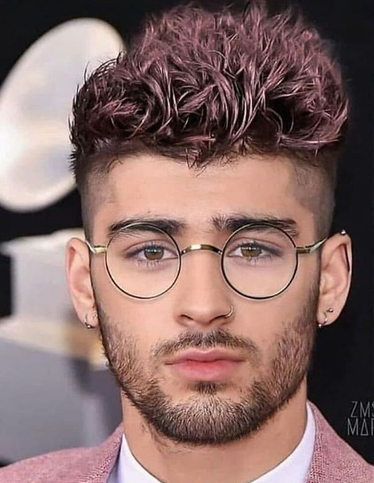 Pink Colored Spiky Top with Dark Roots Fade