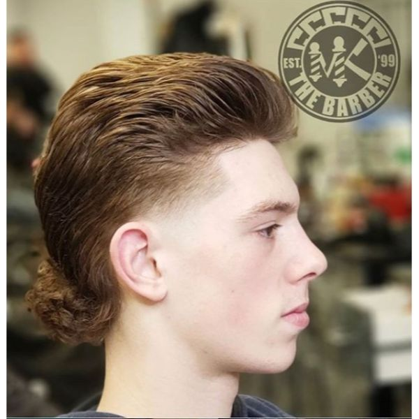 Pompadour Mullet Hairstyle for Teenage Guys