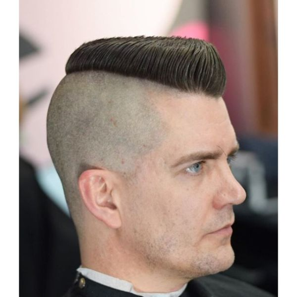 Psycho Billy Flattop Short Sides Long Top Hairstyles