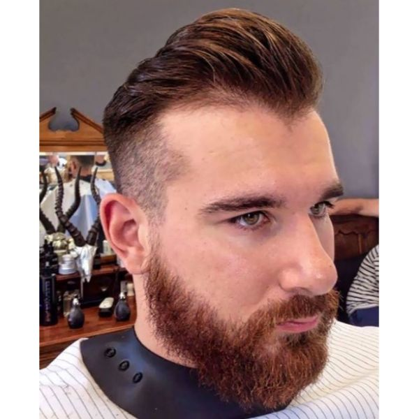Quiffed Short Sides Long Top Hairstyles