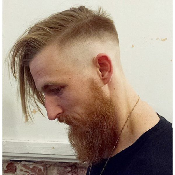 Razor Fade With Free Falling Long Top Hairstyles
