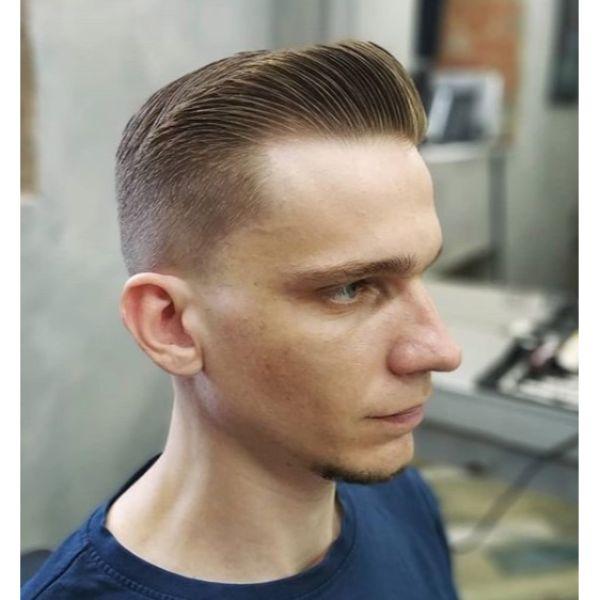 Razor Sharp Blonde Taper Cut