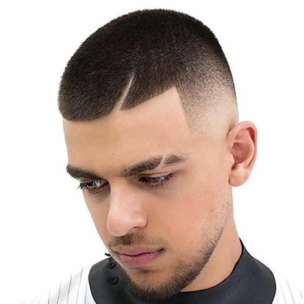 Sharp Fade with Front Razor Pattern