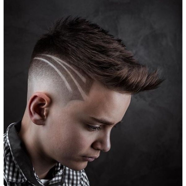 Sharp Fade with Side Pattern
