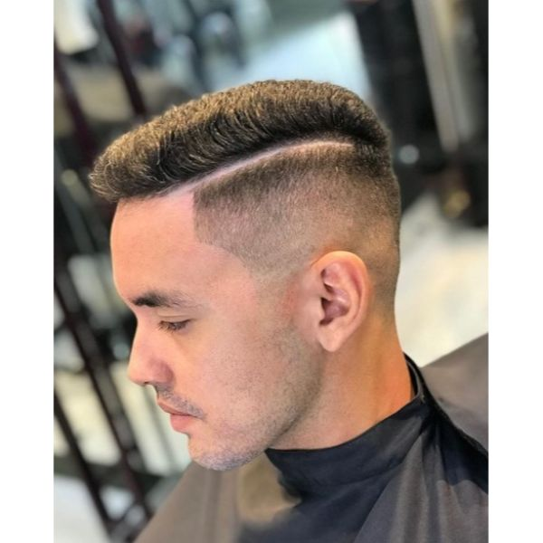 Sharp Taper Fade with Hard Part