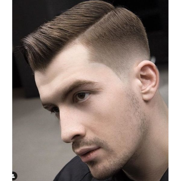 Sharp Taper Fade with Subtle Mohawk