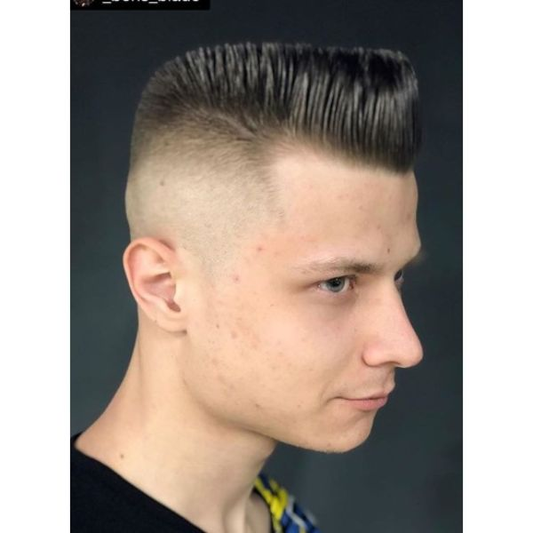Shiny Flattop Short Sides Long Top Hairstyles