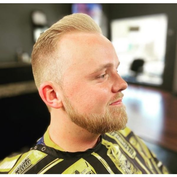 Short Fade for Natural Blonde Hair and Beard