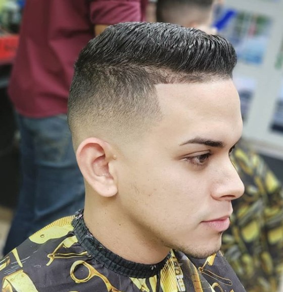 Short Flattop Hairstyle for Teenage Guys
