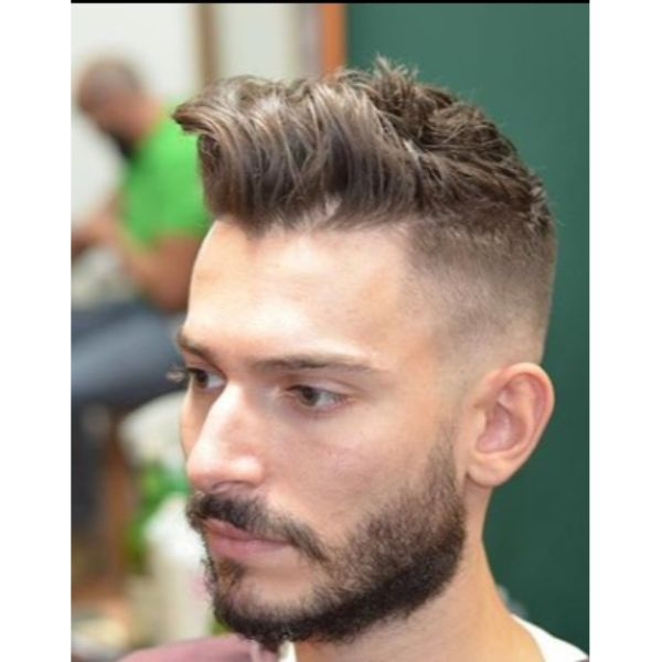 Short Sides Fade with Messy Long Top