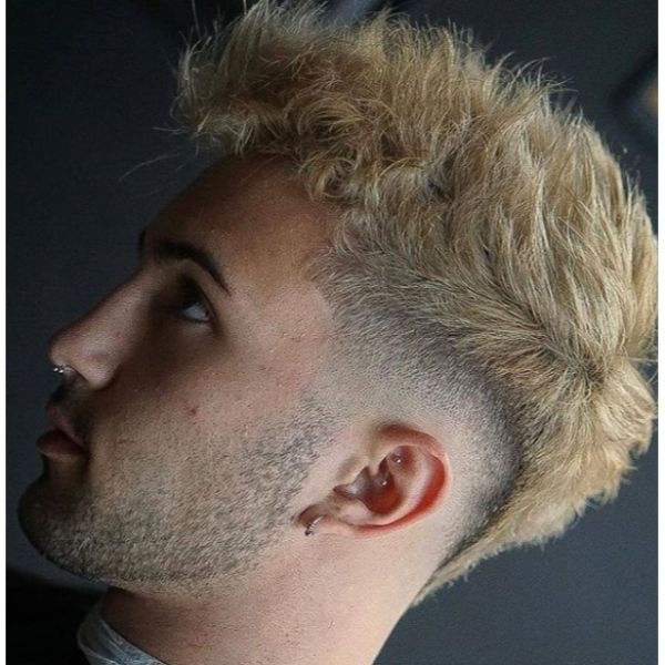 Short Sides with BlondeTextured Spiky Long Top Hairstyles