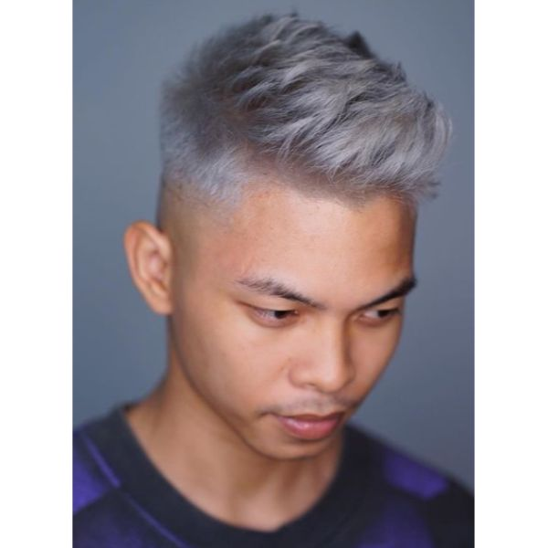 Silver Fox Taper Cut with MidFade