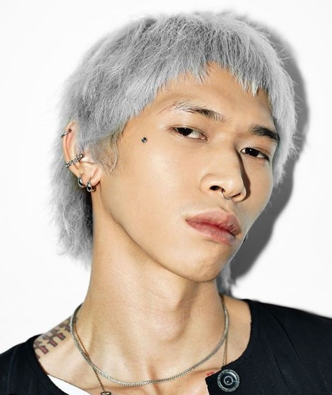 Silver Rat Fringes Hairstyles for Asian Men