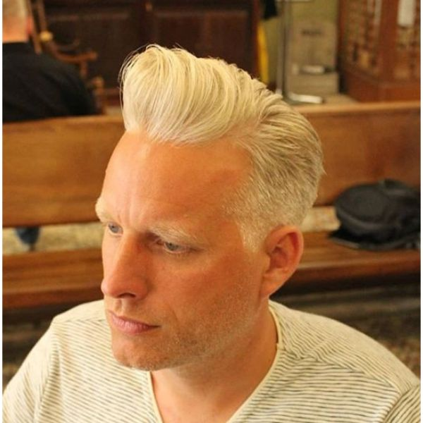 SilverFox Pompadour Hairstyle for Balding Men