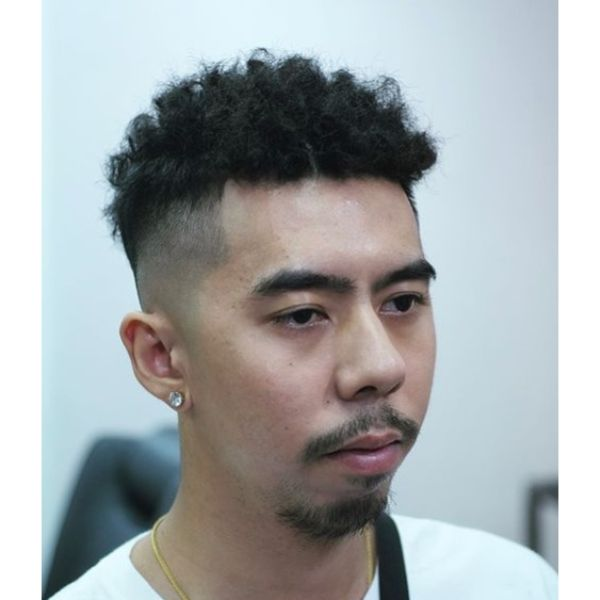 Skin Fade and Coil Perm