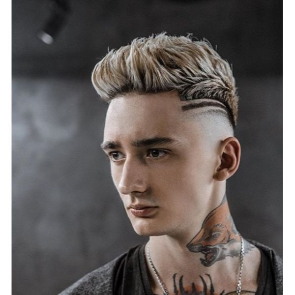 Skin Fade with Custom Mohawk for Teenage Guys