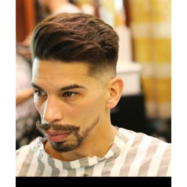 Skin Fade with Loose Textured Sliced Top Hairstyles