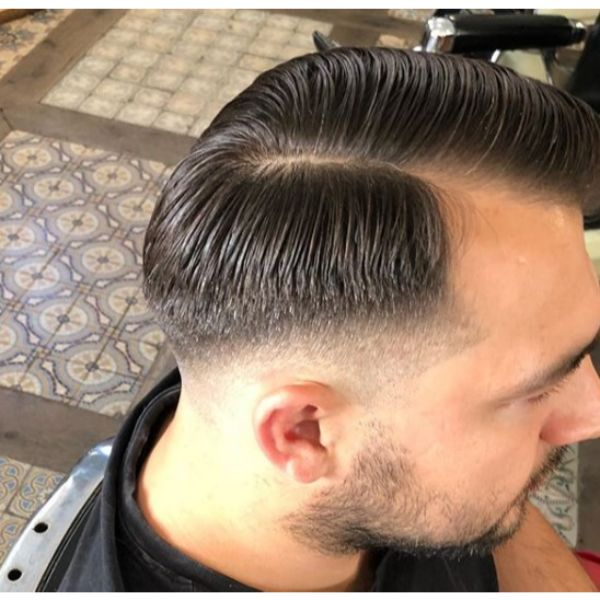 Skin Fade with Side Part and Comb-over
