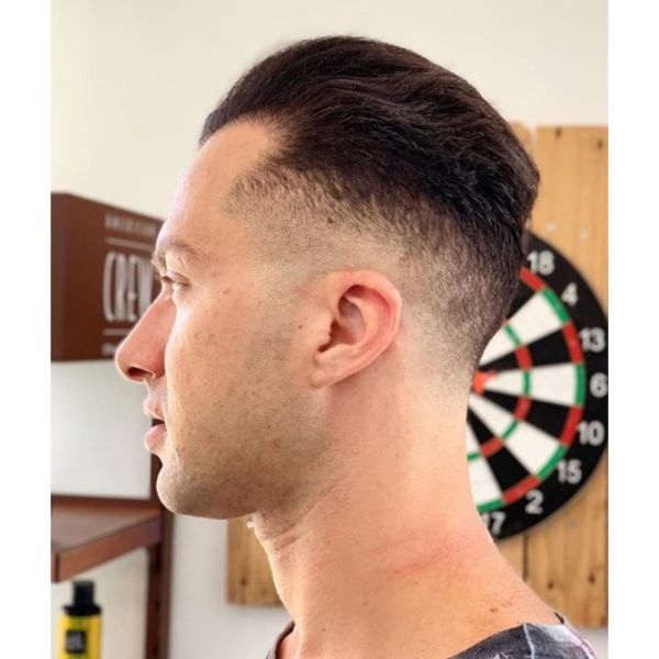 Skin Fade with Wavy Top for Balding Men