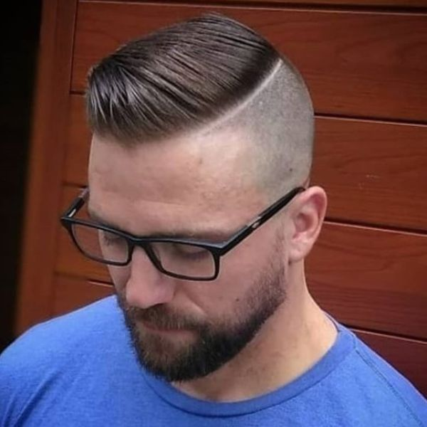 Sleek Top for Skin Fade with Hard Part