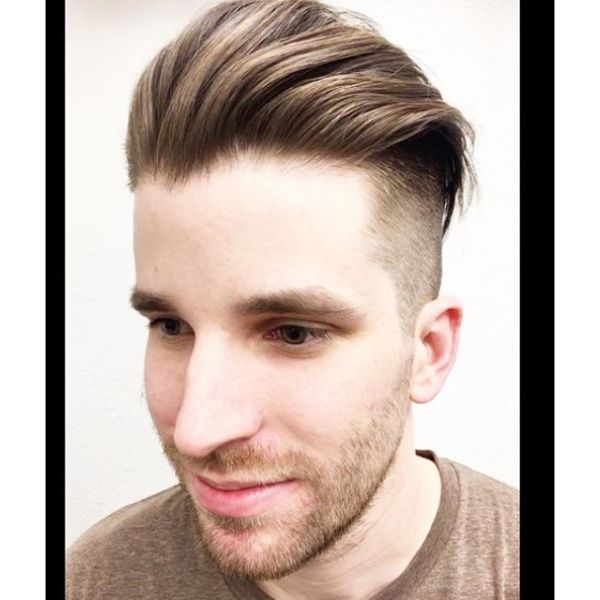 Slickback Short Sides Long Top Hairstyles