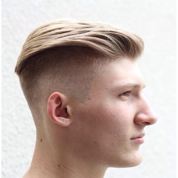Slicked Back Top with Zero Fade Hairstyle for Teenage Guys